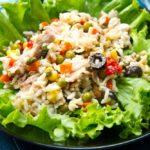 corona de arroz, menú,