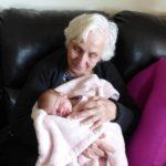 abuelo, niño, nieto, anciana
